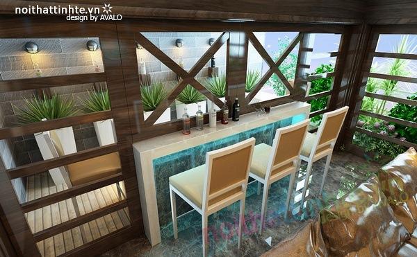 Thiết kế nội thất phòng khách kết hợp phòng nghe nhạc 03