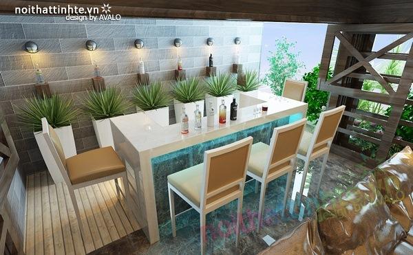 Thiết kế nội thất phòng khách kết hợp phòng nghe nhạc 05