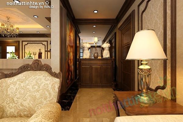 Phòng khách đẹp phong cách cổ điển