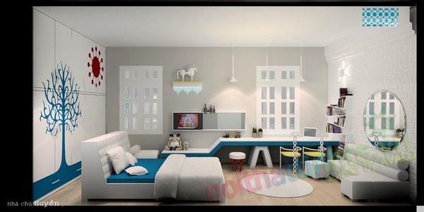 Trang trí phòng ngủ con gái 04