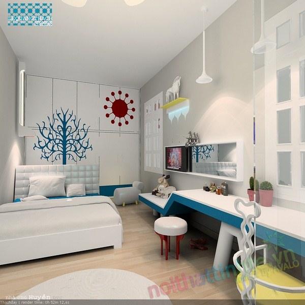Trang trí phòng ngủ con gái 05