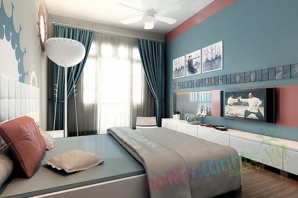 Trang trí phòng ngủ con trai chú huyền 04
