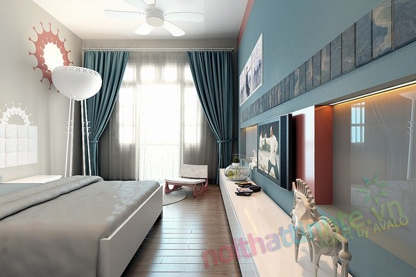 Trang trí phòng ngủ con trai chú huyền 05