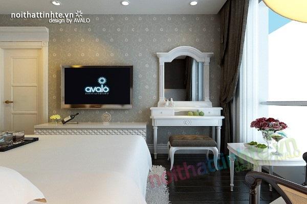 Trang trí nội thất phòng ngủ sang trọng ở Maxcova