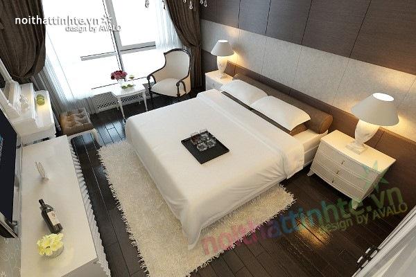 Trang trí nội thất phòng ngủ sang trọng ở Maxcova 07