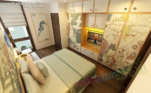 Thiết kế nội thất phòng ngủ trẻ em 04