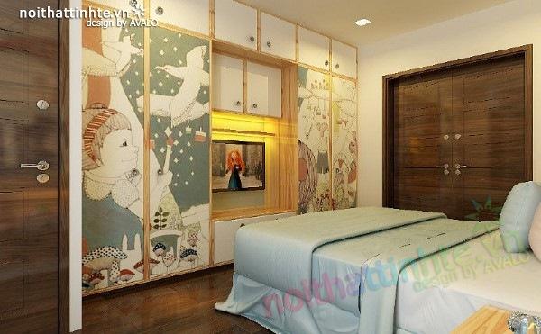 Thiết kế nội thất phòng ngủ trẻ em 05