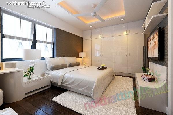 Thiết kế nội thất chung cư 80 m2 hiện đại    Anh Hà
