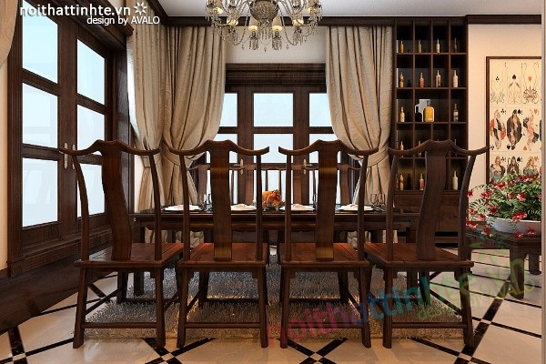 Thiết kế nội thất Avalo – Vincom Village Sài Đồng phong cách Á Đông