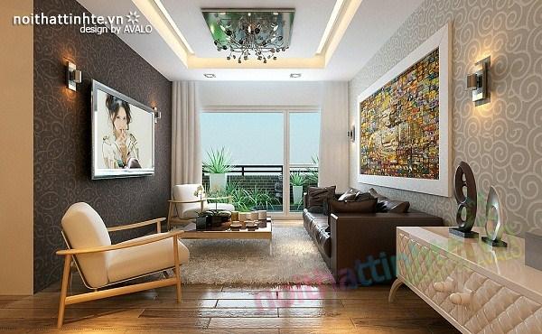 Thiết kế nội thất chung cư hiện đại nhà A Hợi Tam Đa 02
