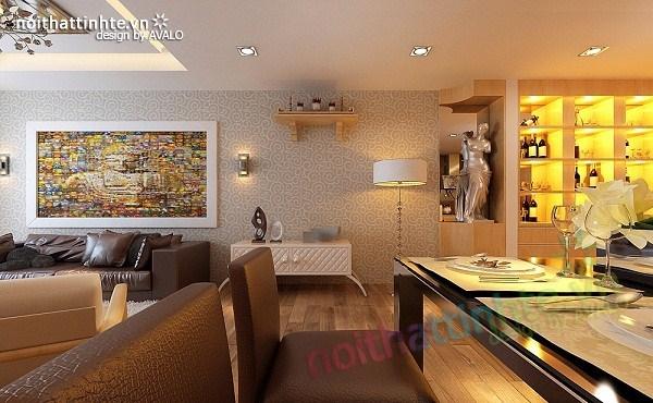Thiết kế nội thất chung cư hiện đại nhà A Hợi Tam Đa 05