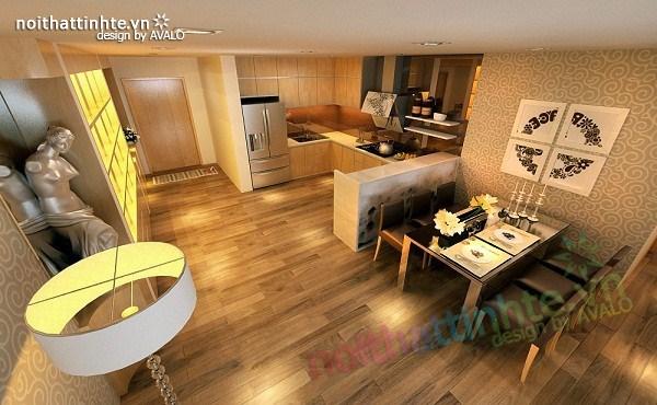 Thiết kế nội thất chung cư hiện đại nhà A Hợi Tam Đa 07