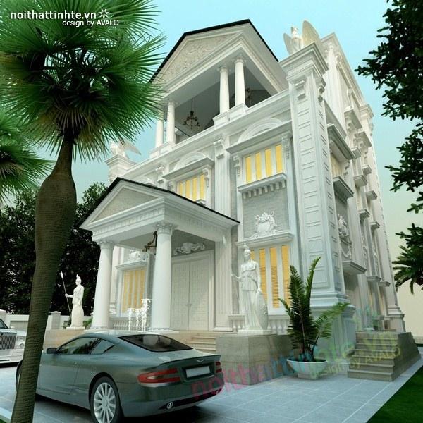 Thiết kế biệt thự cổ điển châu Âu 03