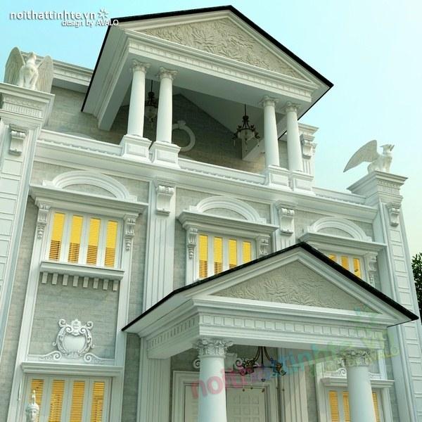 Thiết kế biệt thự cổ điển châu Âu 04