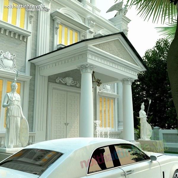 Thiết kế biệt thự cổ điển châu Âu 05