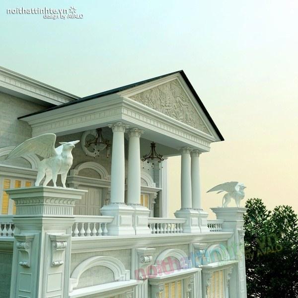 Thiết kế biệt thự cổ điển châu Âu 06