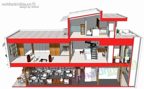 thiết kế nhà đẹp 2 tầng 02