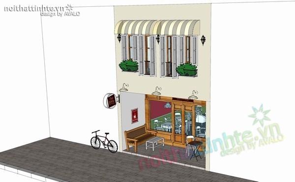 Mẫu nhà đẹp 2 tầng kết hợp quán cafe nhạc