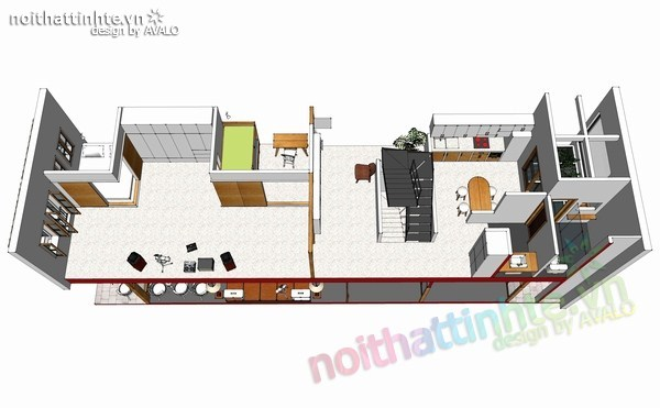 thiết kế nhà đẹp 2 tầng 07