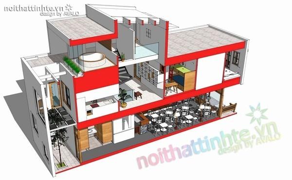 thiết kế nhà đẹp 2 tầng 09