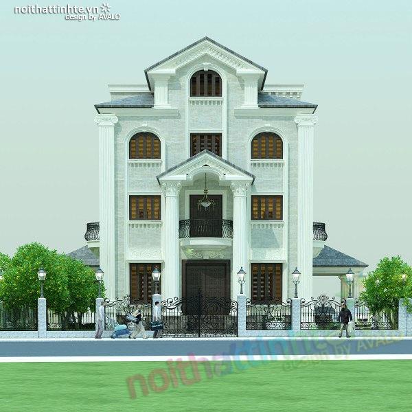 Thiết kế biệt thự Đan Phượng nhà anh Nhâm .