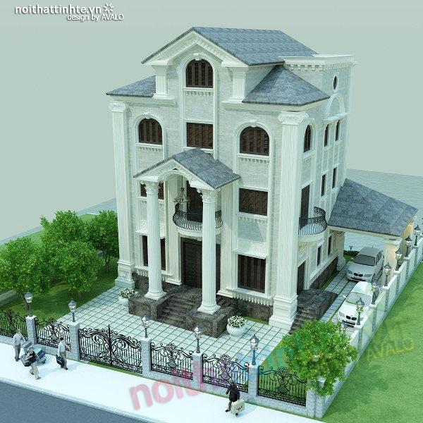 Thiết kế nội thất biệt thự anh Nhâm 08