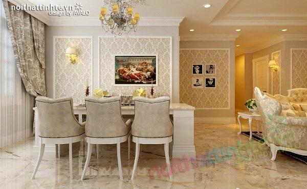 Thiết kế nội thất chung cư 130 m2 Đê La Thành