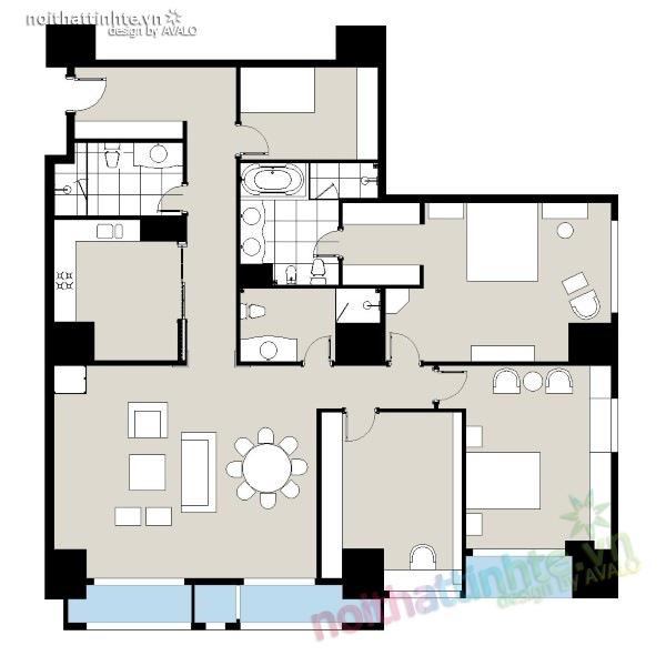 Thiết kế nội thất chung cư Royal city nhà anh Duy 21