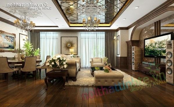 Thiết kế nội thất chung cư Royal city nhà anh Duy 07