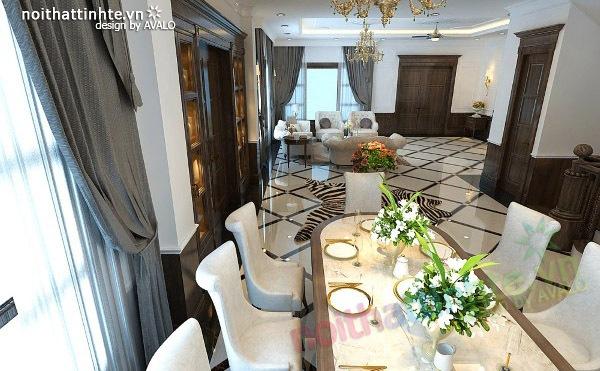 Thiết kế nội thất biệt thự Vincom Village Sài Đồng 10