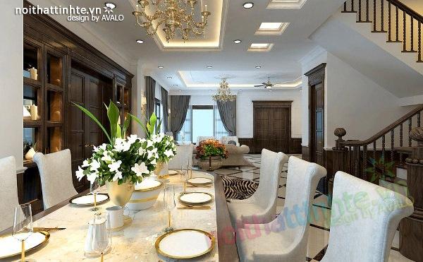 Thiết kế nội thất biệt thự đơn lập Vincom Sài Đồng   anh Hóa