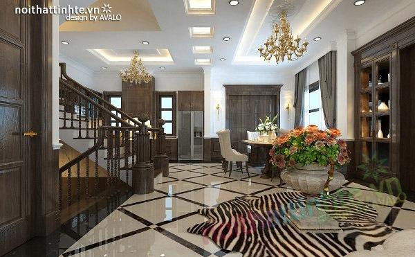 Thiết kế nội thất biệt thự Vincom Village Sài Đồng 02