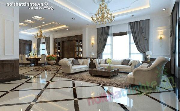 Thiết kế nội thất biệt thự Vincom Village Sài Đồng 03