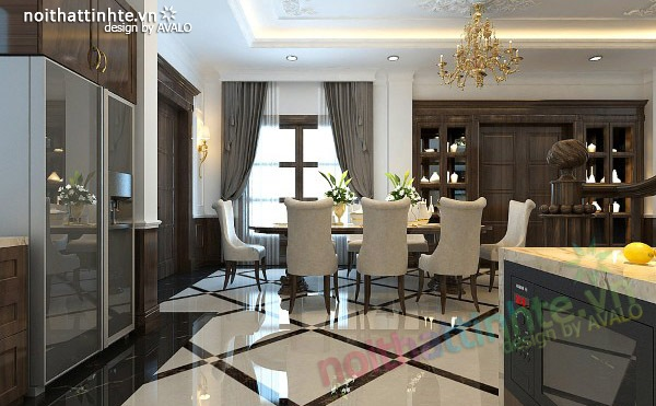 Thiết kế nội thất biệt thự Vincom Village Sài Đồng 05