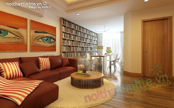 Thiết kế nội thất chung cư 90 m2 nhà anh Hoàng Minh Khai 11