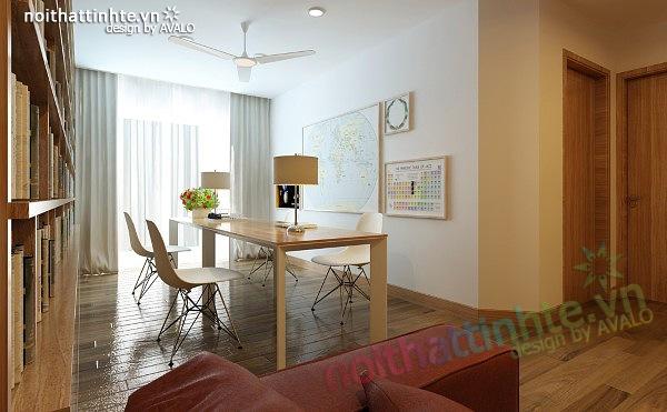 Thiết kế nội thất chung cư 90 m2 nhà anh Hoàng Minh Khai 12