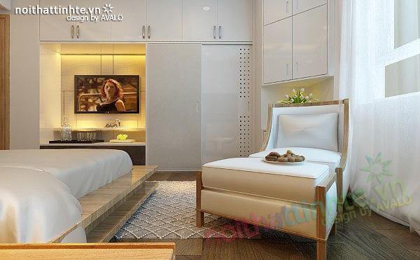 Thiết kế nội thất chung cư 90 m2 nhà anh Hoàng Minh Khai 17