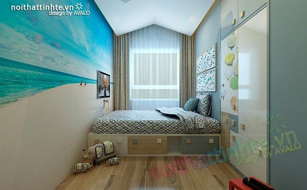 Thiết kế nội thất chung cư 90 m2 nhà anh Hoàng Minh Khai 19
