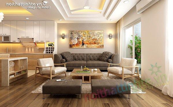 Thiết kế nội thất chung cư 90 m2 Vinaconex 3 Minh Khai