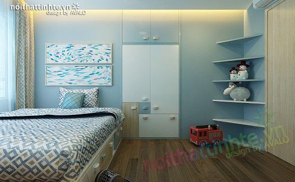 Thiết kế nội thất chung cư 90 m2 nhà anh Hoàng Minh Khai 202