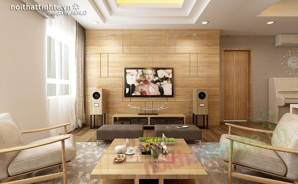 Thiết kế nội thất chung cư 90 m2 nhà anh Hoàng Minh Khai 03