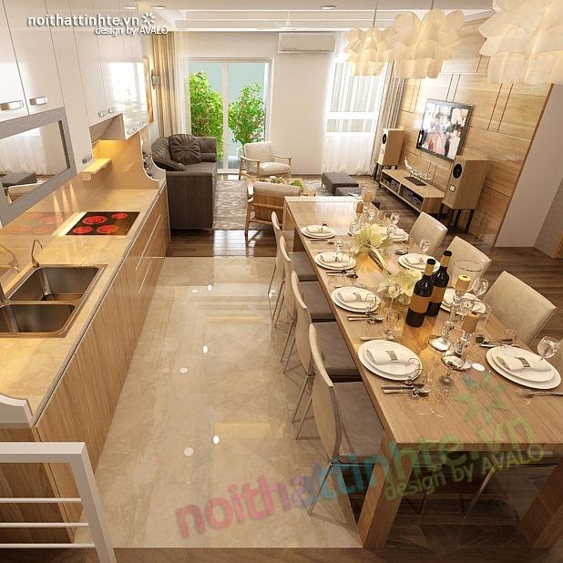Thiết kế nội thất chung cư 90 m2 nhà anh Hoàng Minh Khai 05