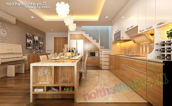Thiết kế nội thất chung cư 90 m2 nhà anh Hoàng Minh Khai 06