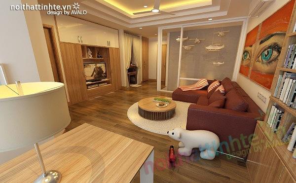 Thiết kế nội thất chung cư 90 m2 nhà anh Hoàng Minh Khai 07