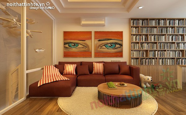 Thiết kế nội thất chung cư 90 m2 nhà anh Hoàng Minh Khai 08