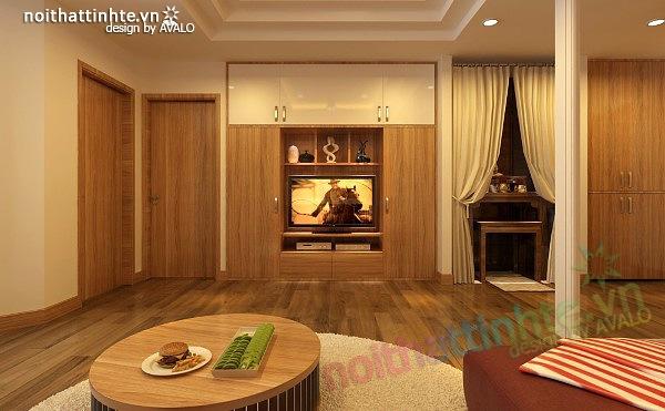 Thiết kế nội thất chung cư 90 m2 nhà anh Hoàng Minh Khai 09