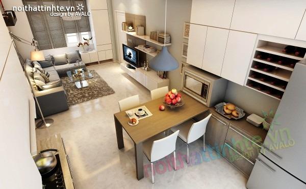 Thiết kế nội thất chung cư đẹp 70 m2 10