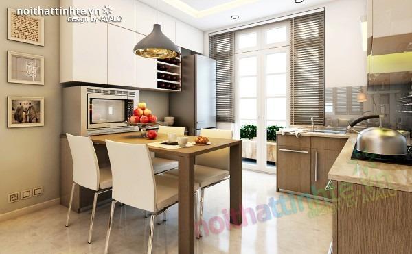 Thiết kế nội thất chung cư 70 m2   nhà anh Tốn