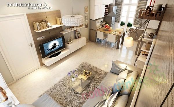Thiết kế nội thất chung cư đẹp 70 m2 05