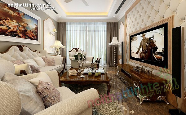 Thiết kế nội thất chung cư Royal city 135 m2 03
